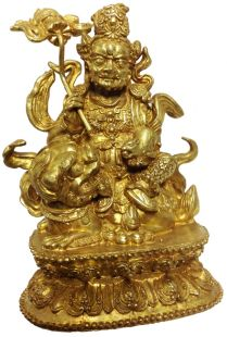 Lion Zambala or Kubera brass statue