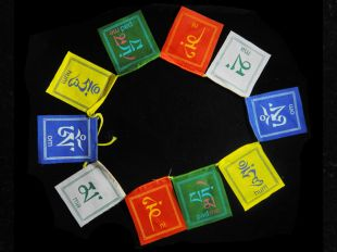 Om Mani Prayer Flag cotton