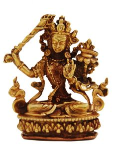Manjushree Gilt Copper 2〝 Statue