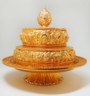 Mandala Gold plated with stand