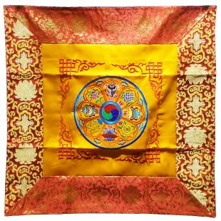 8 Auspicious Symbols Altar cloth (Embroidery)