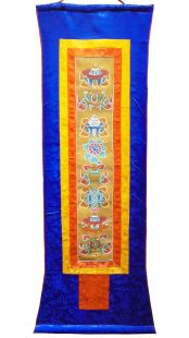 Ashtamangala Hanging scroll
