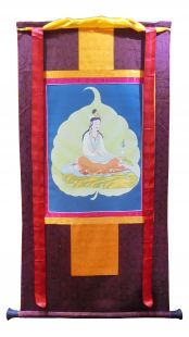 Assorted Tara thanka with brocade