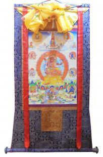 Assorted thanka with brocade