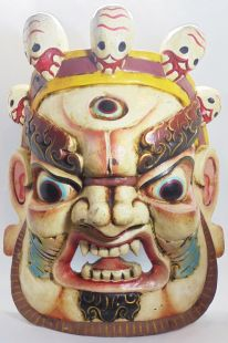 Mask of Mahakala (white)
