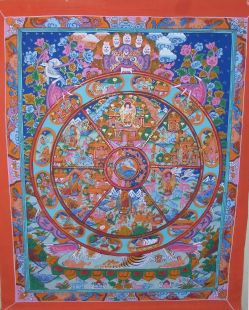 Reincarnation(hand made Thanka)