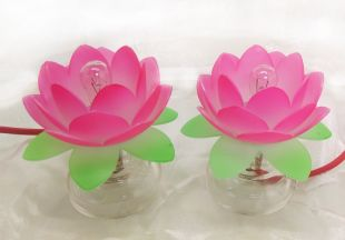 lotus Lamp A pair (S)(Acrylic)