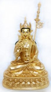 Guru Rinpoche,Full gilt gold statue