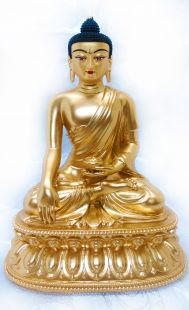 Sakyamuni , Full gilt gold statue