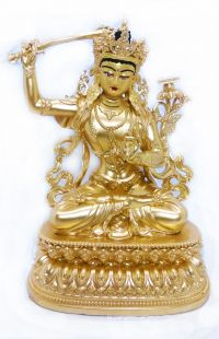 Manjushree, Full gilt gold statue