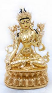 White Tara , full gilt gold staue