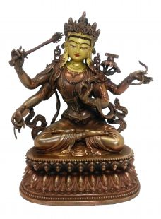 Four arms Manjushree copper statue